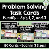 Addition and Subtraction Word Problem Task Cards - Complete Set - 180 cards