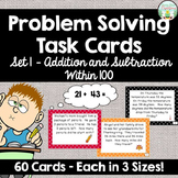 Addition and Subtraction Word Problem Task Cards - Set 1 -