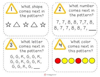 Problem Solving Task Cards for K-2 Students