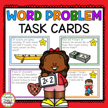 Problem Solving Task Cards for Multiplication and Division