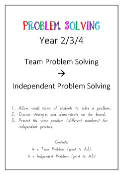 Problem Solving - Team and Independent