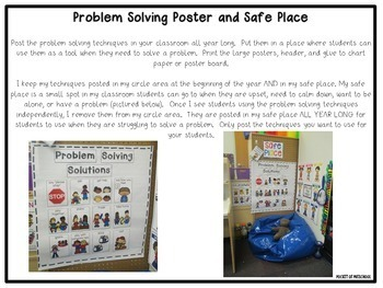 Problem Solving Solutions - Visual Support Posters, Song, and Strategies
