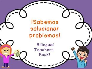 Word Problems Spanish Editable