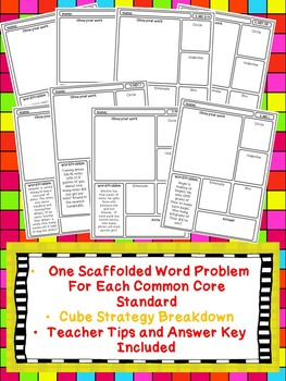 Problem Solving/Test Prep Scaffolded Word Problems: Fifth Grade Math