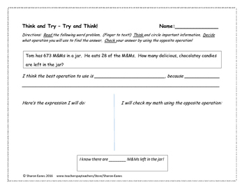Problem Solving Math Story Problems Bundled
