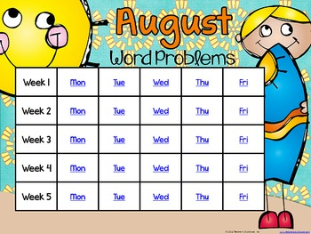 Problem Solving Through the Year: August Edition