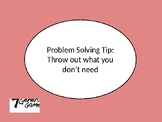 Problem Solving- Throw It Out