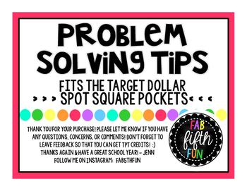 Problem Solving Tips Desk Pockets