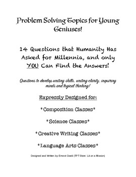 Problem Solving Topics for Young Geniuses!