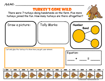 Problem Solving- Turkeys, Pilgrims, Thanksgiving
