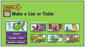 Problem Solving Unit 1: Make a List or Table