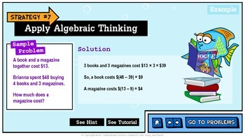 Problem Solving Unit 7: Apply Algebraic Thinking