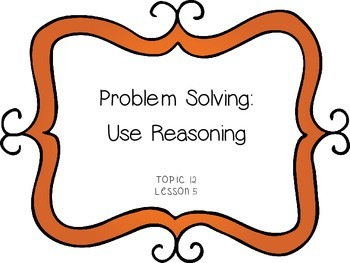 Problem Solving: Use Reasoning - Measuring Length - First Grade enVision Math