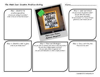 "Problem-Solving Using Digital Photography: ""The Math Cam"" Template"