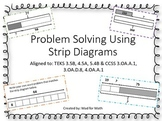 NEW Problem Solving Using Strip Diagrams Task Cards Grades 3-5