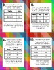 Problem Solving Using Tables Task Cards