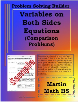Problem Solving Variables on Both Sides