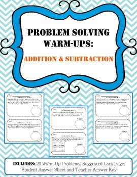 Problem Solving Warm-Ups: Addition and Subtraction