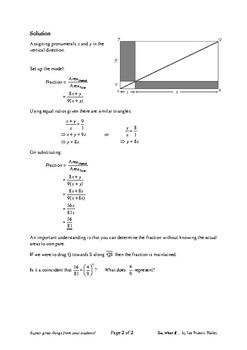 Problem Solving: What Fraction?