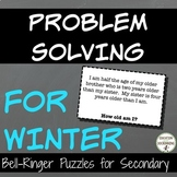 Winter Math Problem Solving Puzzles for Bell-ringers, enri
