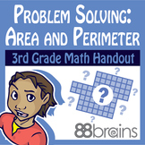 Problem Solving With Area & Perimeter pgs. 31 - 34 (Common Core)