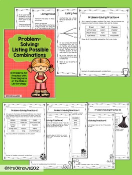 Problem Solving With Tree Diagrams or Make A List Strategy