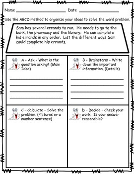 Problem Solving - Word Problems Made Easy with a 4-Step Strategy for Mastery