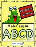 Problem Solving - Word Problems Made Easy with a 4-Step St