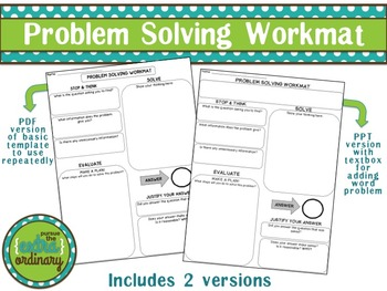 Problem Solving Workmat