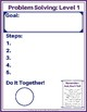 Problem Solving Worksheet Guide, 3 levels with examples
