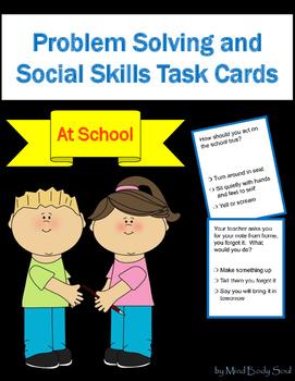 Problem Solving and Social Skills Task Cards: At School
