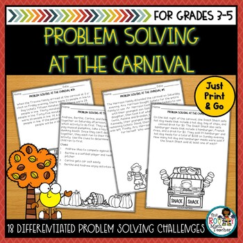 Problem Solving at the Carnival: Fall Math Pack