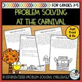 Fall Math Printables | Math Problem Solving Activities