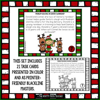 Problem Solving in Santa's Workshop: Holiday Math Task Cards Pack