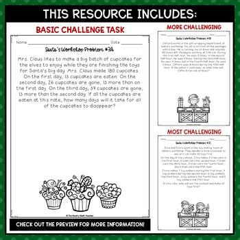 Problem Solving in Santa's Workshop: Holiday Math Printables Pack