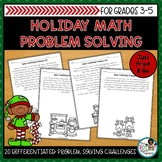 Holiday Math Activities | Problem Solving Pack
