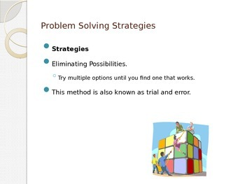 Problem Solving in Science and the Scientific Method.