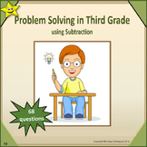 Problem Solving in Third Grade - Subtraction Distance Learning