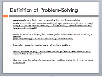 Problem-Solving in the Real World Smartboard/PowerPoint Lesson