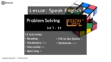 Problem Solving lvl 7 - 11 (Distance Learning)