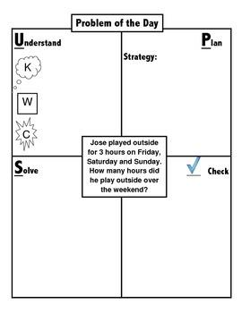 Problem Solving using an Organizational Chart UPS