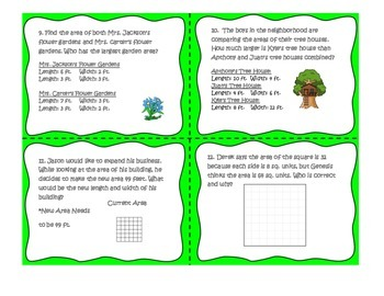 Problem Solving with Area 3.6 C