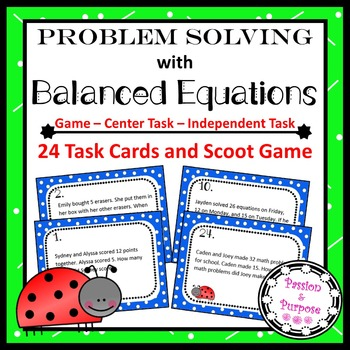 Addition & Subtraction Word Problems - Make Equations with