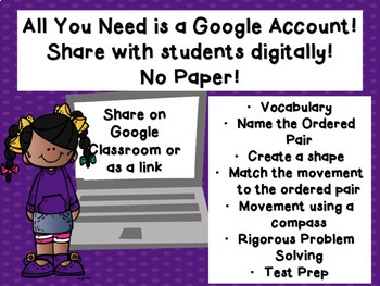 Problem Solving with Coordinate Grids Google Classroom Activity 5.8A 5.8B 5.8C