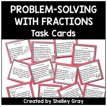 Problem-Solving with Fractions Task Cards | Fraction Practice