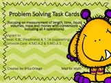 NEW Problem Solving with Measurement Task Cards 4.8C, 5.7A