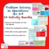 Problem Solving with Operations Gr 2-7 Activity Bundle