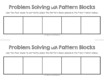 Problem Solving with Pattern Blocks 1  Math Centers