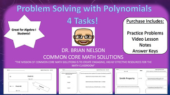 Problem Solving with Polynomials (4 Tasks, Video Lesson & Notes!)