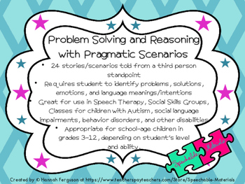 Problem Solving with Pragmatic Scenarios